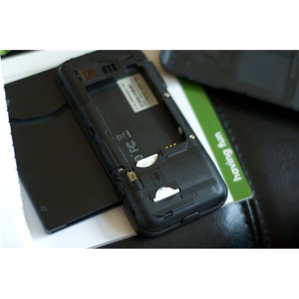 T-Mobile G1 battery compartment