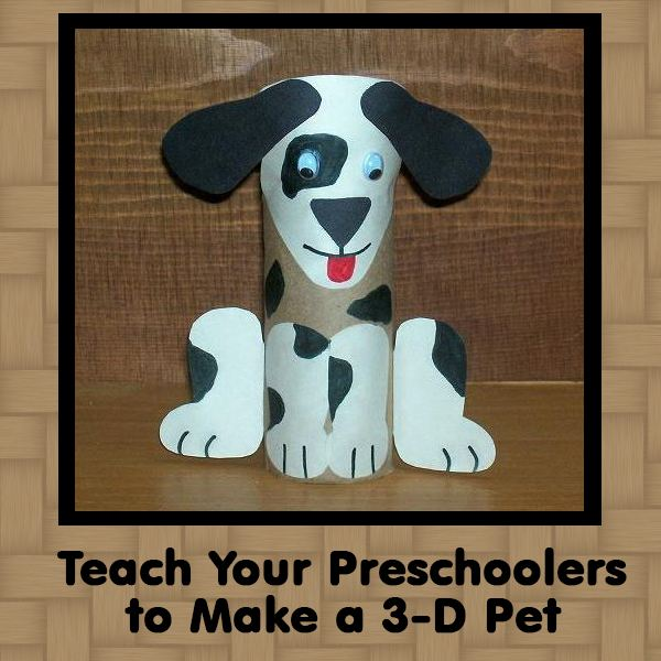 This Preschool Craft Project Uses Recycled Materials To Create A 3D Pet Your Students Will Love