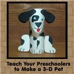 This preschool craft project uses recycled materials to create a 3D pet  your students will love!