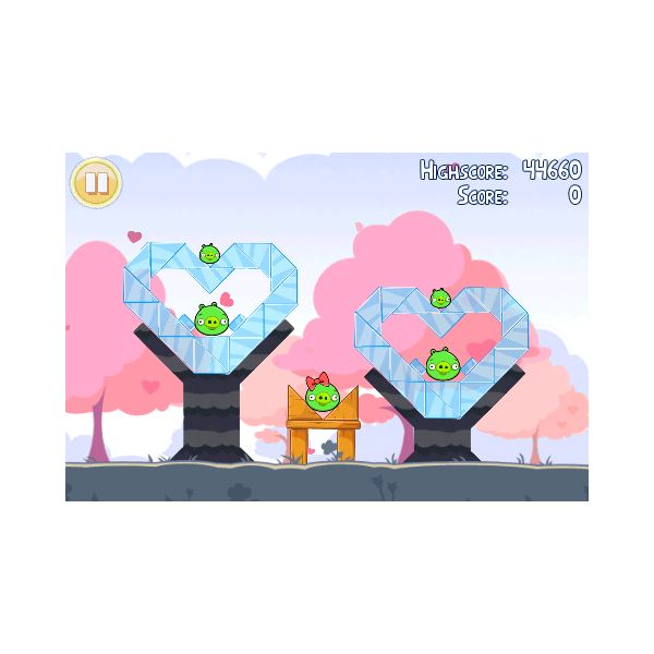 Angry Birds Valentines Walkthrough: 1-1 to 1-5