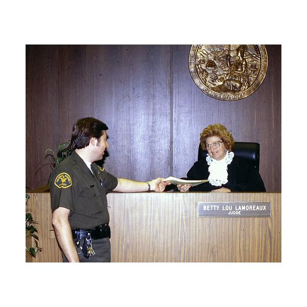 Judge Betty Lou Lamoraeux, 1980 -- Orange County Archives