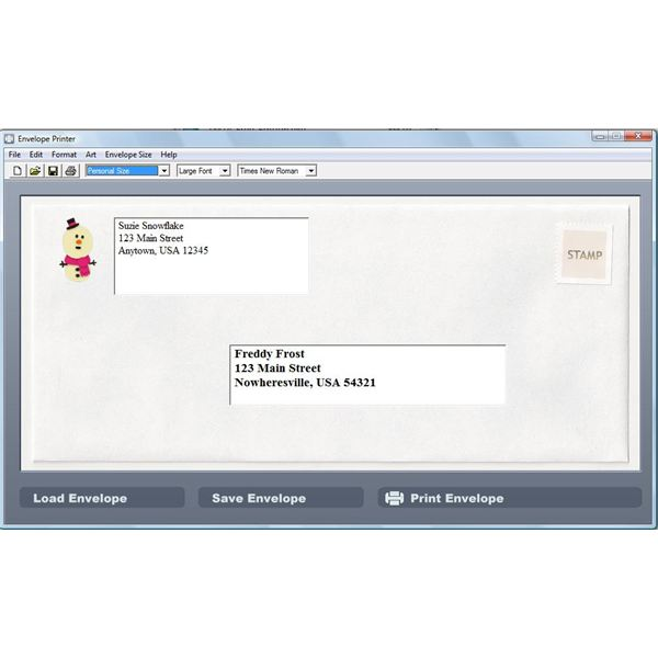 Envelope Printer is an easy to use program for creating and printing addresses on envelopes