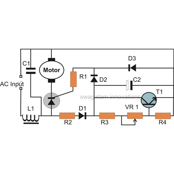 motor speed control circuit diagram