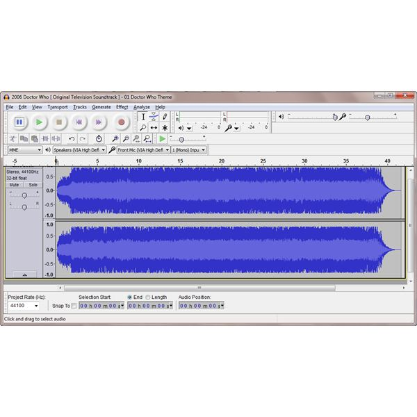 Configuring Your Ringtone with Audacity