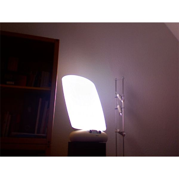 A type of light therapy lamp