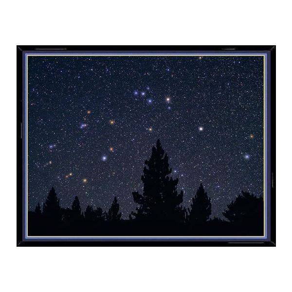 This photo of the constellation Aquarius shows, enlarged in their true color, the main