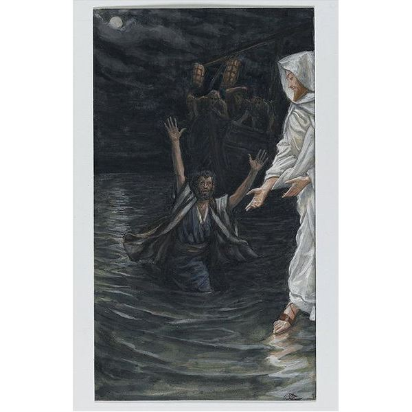 Jesus Walks on Water - Image Credit: Institutions of the Brooklyn Museum / Public Domain