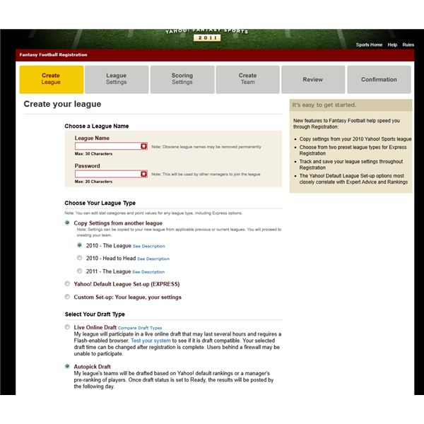 How To Set Up A Yahoo Fantasy Football League Complete Guide And