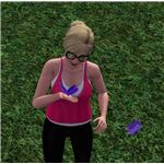 Sims 3 Royal Purple Butterfly