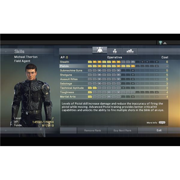 Alpha Protocol - Builds Guide