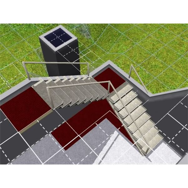 How To Build L Shaped Stairs Sims