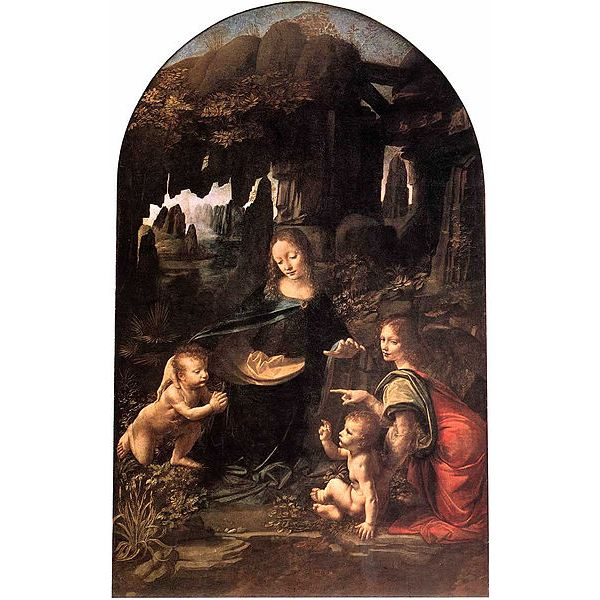 381px-'Madonna of the Rocks' by Leonardo da Vinci, Louvre version