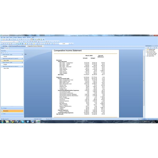 Crystal Reports Report