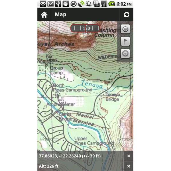 Android Topographic Map App.Top Android Hiking Apps