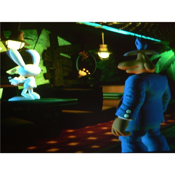 Sam and Max Season 3 Walkthrough: Sam and Max trapped in Stinky's Diner.