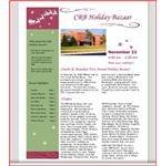 Bazaar Flyer, Lot's of Room for Text