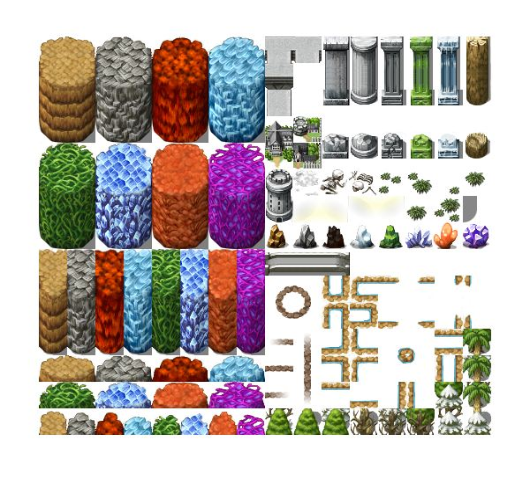RPG Maker VX Round Tileset b