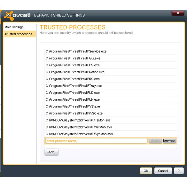 ThreatFire Files Trusted by Avast
