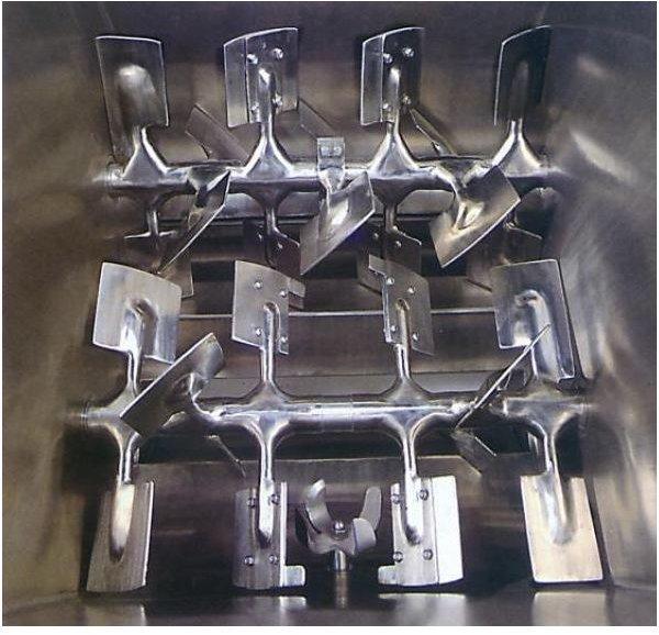 Figure 3 - Internal Construction of Twin Shaft Paddle Mixer