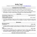 Recent College Grad Resume Template