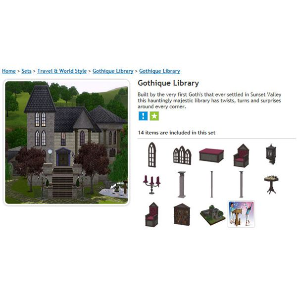 The Sims 3 download Gothique Library
