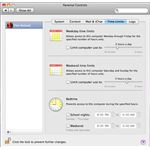 Time Limits for OS X Parental Controls