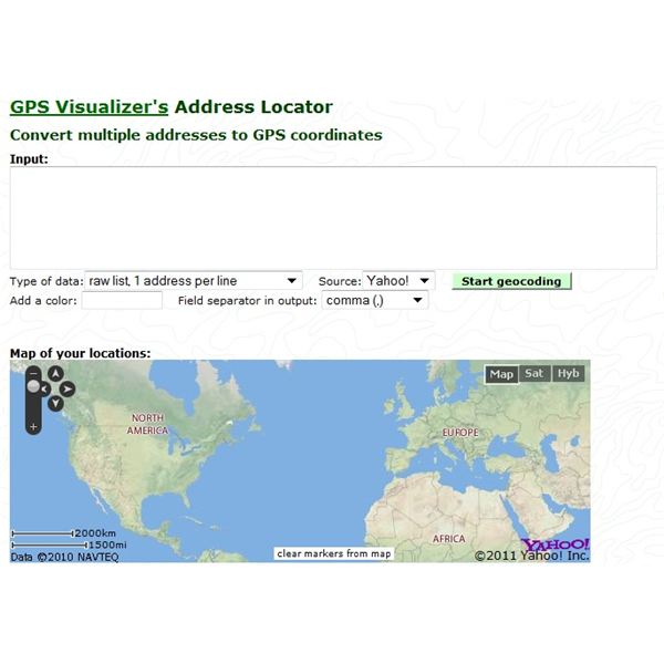 How to Convert an Address to GPS Coordinates