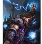 A Tauren Shaman Casting Lightning Bolt