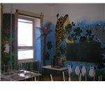 Garaffe art class mural