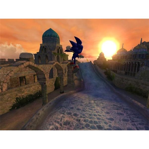 Sonic is Placed in the World of Arabian Nights