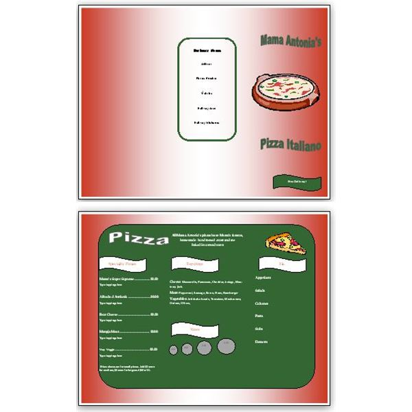 Need Free Pizza Menu Templates? Download Them Here To Use