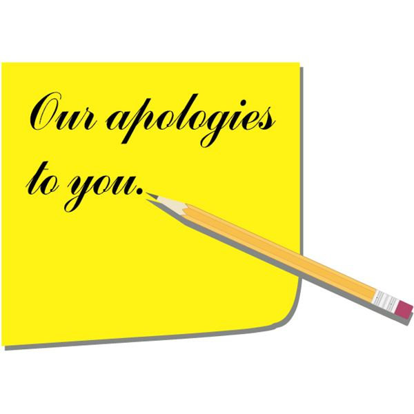 Business Apology  Company Apology Letter Sample