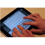 iPad with on display keyboard Wikipedia image by matt buchanan