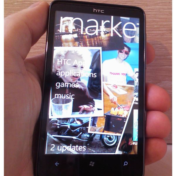The Windows Phone 7 marketplace