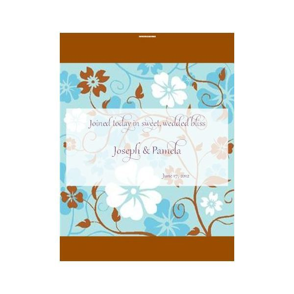 Wedding candy wrapper template for Microsoft Publisher