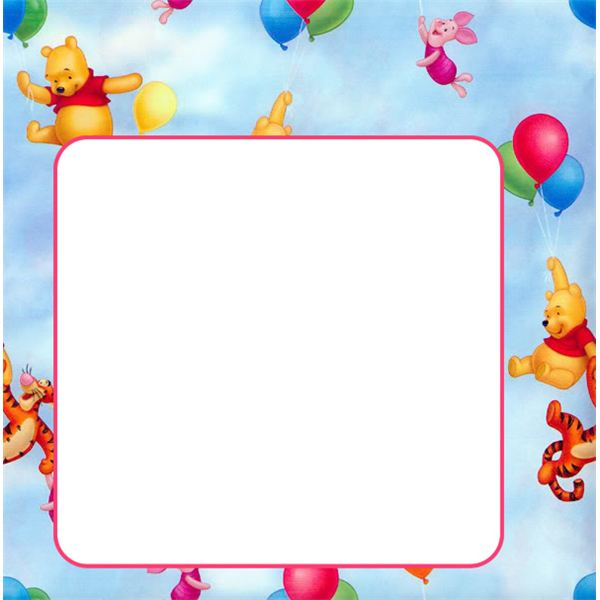Pooh Bear Birthday Border