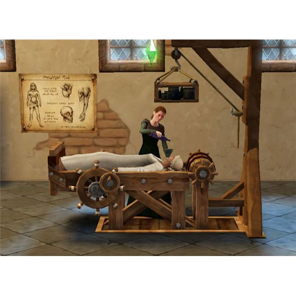 The Sims Medieval Physician Medicating Sim