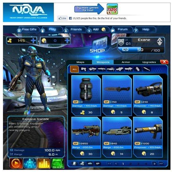 N.O.V.A Elite Facebook Game