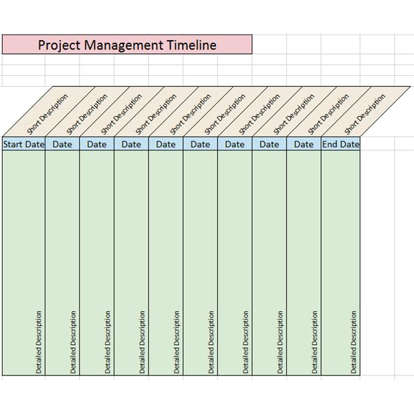 Sample Project Management Timeline Templates For Microsoft Office - Excel template timeline project management