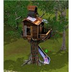 The Sims 3 tree house and slide