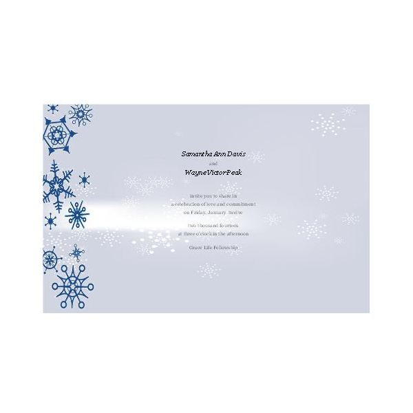 Snowflake Border Winter Wedding Invitation