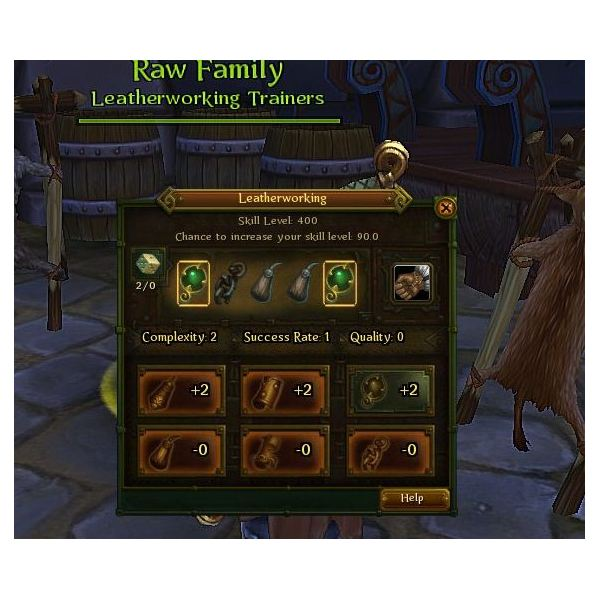 The old crafting method for making leather items