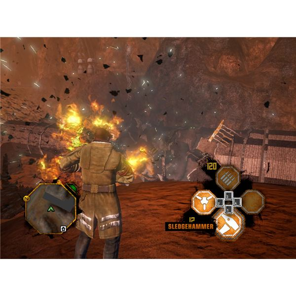 Red faction explosion