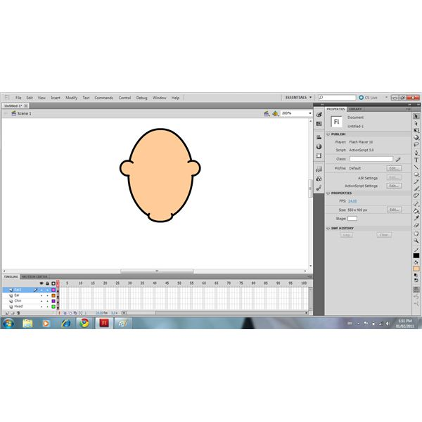 Use The Oval Tool & Eraser To Draw The Ears
