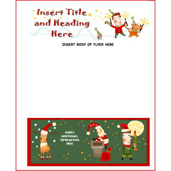 christmas brochure templates free - create a christmas flyer online with these methods