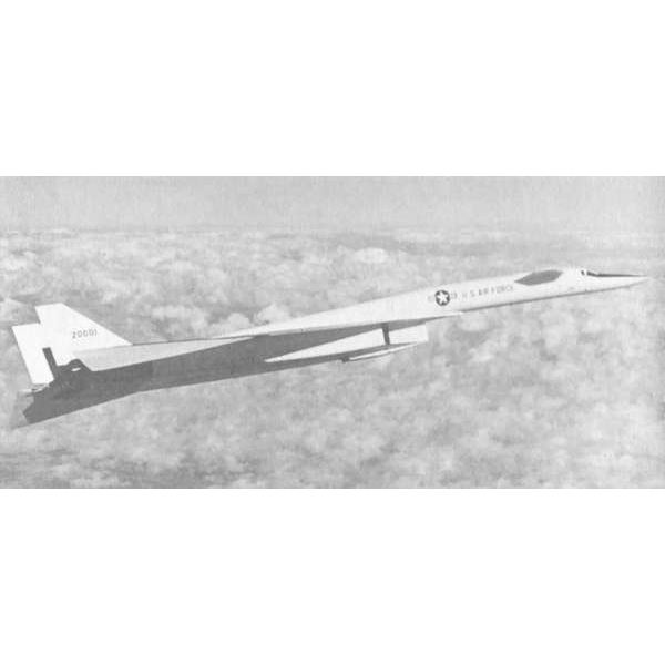 A prototype XB-70 in flight
