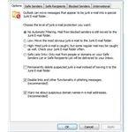 Outlook Spam Settings