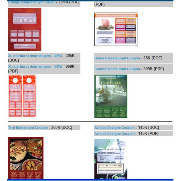 A Sample Coupon Website Business Plan template