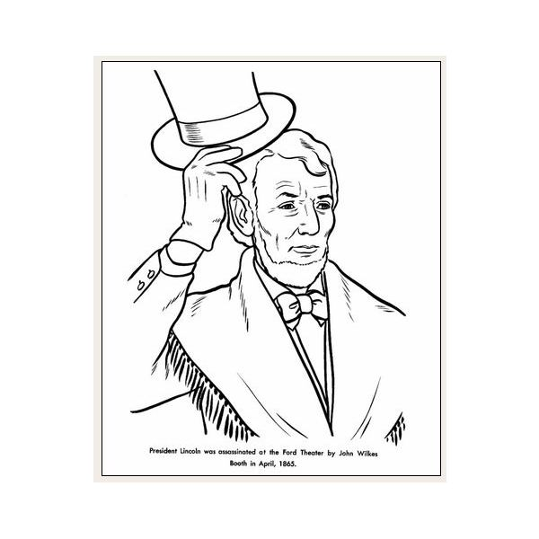 Guide to free president lincoln coloring sheets you can for Coloring pages of abraham lincoln