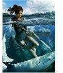 Sharks and mercenaries are minor enemies while playing Tomb Raider: Underworld